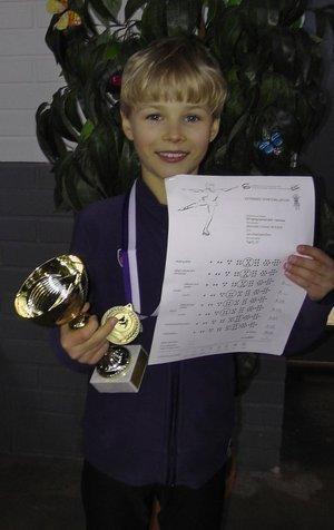 Jari Krestyannikov kultaa minien poikien sarjassa