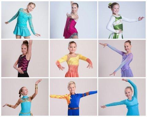 Ylhäältä vasemmalta: Eeva, Essi, Olivia, Silja, Nella, Miimi, Minea, Jari ja Rosa