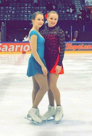 Joanna ja Hanna joulukuisissa SM-kisoissa